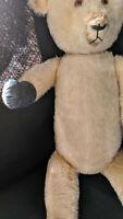 """Otto Steiff Teddy Bear 1912 Vintage Button In Ear Mohair Bear In Box Approx. 24"""""""