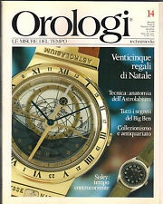 RIVISTA OROLOGI 12/88 TECNICA ASTROLABIUM BIG BEN SISLEY