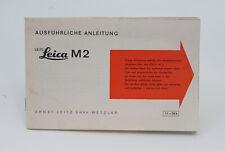 Bedienungsanleitung Leica 2, M-2, Anleitung, Deutsche Ausgabe !