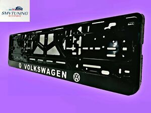 """Volkswagen"" Euro License Plate Tag Holder Mount Adapter Bumper Frame Bracket."