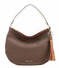 Michael Kors Bag Handbag Brooke LG Shoulder Hobo Braun New 30t9g0kh3b
