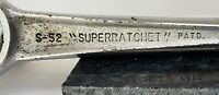 "VINTAGE USA HAND TOOL J.H. WILLIAMS '""SUPERRATCHET"" S-52 1/2"" DRIVE WELL USED"