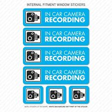 7 x Dash Cam Recording Stickers CCTV In Car Camera - Window Sticker - UV3089