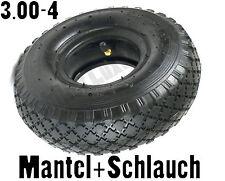 3.00-4 Reifen Schlauch Mantel 260x85mm Rader Sackkarre Schubkarren Gokart Rad