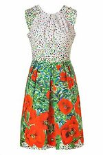 $378 MILLY of New York Anthropologie BIANCA poppy flowers dress size 4, S, USA