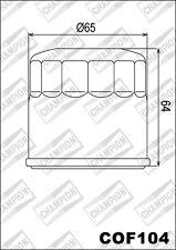 COF104 Filtro De Aceite CHAMPION HondaGL1800 Oro Wing Deluxe180020132014 15