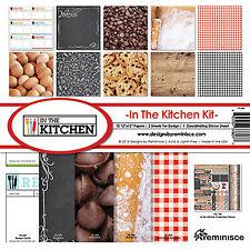 Auslieferung in die Küche Scrapbook Kit (10) 12x12 Papiere (1) 12x12 Aufkleber Blatt