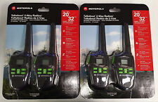 4 PACK Motorola MD200MR FRS/GMRS 2-WAY Radio Walkie Talkie 22 Channels 20 miles