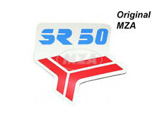 Simson Klebefolie für Beinblech (Knieschutzblech), rot/blau SR50 MOPED Aufkleber