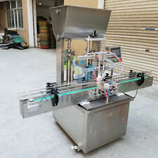 5-1000ml Automatic Double Head Paste Filling Machine with Conveyor PLC Control