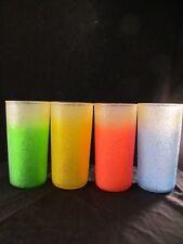 Wonderful Set Of Color Fade Lemonade Tea or Water Glasses 4 Colors 8 Glasses