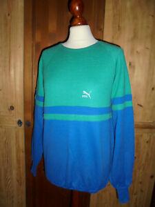vintage 80s PUMA sweatshirt pullover sport 80er jahre oldschool pulli M