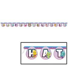 HATCHIMALS HAPPY BIRTHDAY BANNER ~ Party Supplies Hanging Decoration Purple Pink