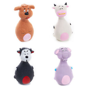 Puppy Dog Toy Animal Shape Latex Chew Squeaker Squeaky Sound Playing T.DB