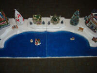 4FT Christmas Village Display Platform J14 For Lemax Dept56 Dickens + More