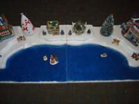 4FT Christmas Village Display Platform J14 For Lemax Dept56 Dickens + More