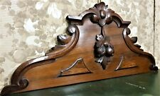 Scroll leaf fruit wood carving pediment Antique french architectural salvage