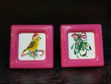 Original Christmas Acrylic mini Painting set with Pink Frame