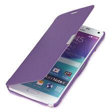Samsung Galaxy Note 4 Tasche Case Schutz Hülle Etui Flip Cover lila