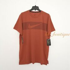 NWT Nike Breathe AJ8004-622 Men's Dri-FIT Training Top Tee Shirt Orange Size XL