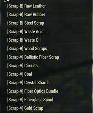Fallout 76(PC) Junk scrap bundle 1000 each + 100 each flux Only 15$