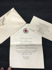 1936 LENOX HILL HOSPITAL NY COMMENCEMENT INVITATION TICKETS HOTEL ASTOR