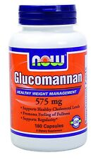 NOW Glucomannan 180 capsules Appetite Suppressed Feel Full.. Fast 1st Class Ship