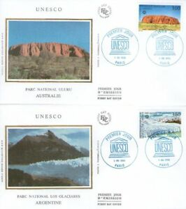 FDC - SERVICES 114-115 - UNESCO - 01.06.96