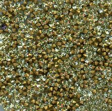 451114 *** 60 STRASS ANCIENS FOND CONIQUE JONQUIL ***2,1mm