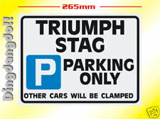 Triumph Stag Parking Sign Novelty Gift