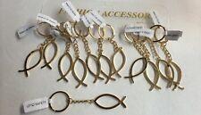 12 Pc Gold Fish Key Chain Religous Jesus Key Chain New Wholesale Christianity