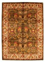 """Vintage Hand-Knotted Carpet 8'0"""" x 11'0"""" Traditional Oriental Wool Area Rug"""