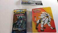POKEMON - Sun & Moon - 1 Booster Pack & Mini Album Holds 60 Cards