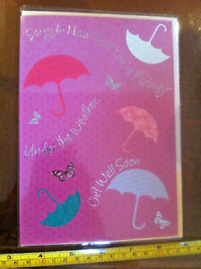 Under The Weather The Get Well Soon Card & Envelope New
