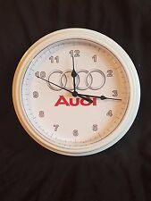 White Wall Clock NOVELTY WALL CLOCK ROUND Audi a3 a4 s3 car garage man cave