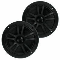 BOSS Audio MR6B 6.5 Inch 180W Dual Cone Black Marine Audio Speakers (Pair)