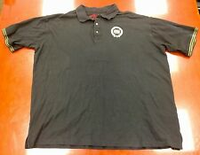 Crown Holder Shirt Polo Black Embellished Size 4XL XXXXL