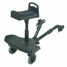 Ride On Board With Saddle Compatible With Mothercare Genie - Black