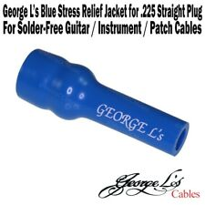 George L's .225 Cable Stress Relief Jacket Sleeve for Straight Plug BLUE NEW
