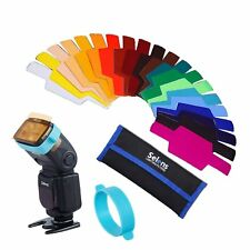 Photogarphy Selens Se-Cg20 Flash Speedlight Color Gels Filter 20ps background Us