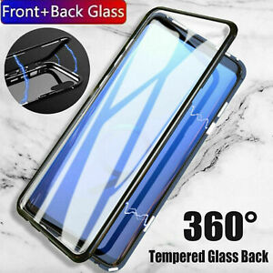 360° Huawei P40 lite/Pro case Front + Back Magnetic Tempered Glass Mirror Cover