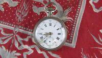 Antik Große Armbanduhr bis Anhänger Stoppuhr Epoche 19 Eme Silber 8