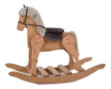 LARGE WOODEN ROCKING HORSE Handmade USA Toddler NURSERY Toy Furniture LIGHT OAK