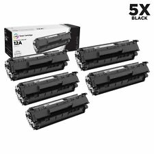 LD Compatible Replacements for HP Q2612A / 12A 5PK Black Laser Toner Cartridges