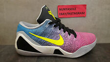 Nike Mens Kobe Bryant 9 Elite Low NIKEID Custom Preowned Shoes (677992) Size 8.5