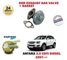 Per Opel Vauxhall Antara 2.0 CDTI DIESEL 2007 - > VALVOLA EGR GAS DI SCARICO + GUARNIZIONE