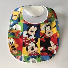 Handmade Baby Bib ~ Mickey Mouse & Friends Print