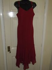 VERA MONT RED GORGEOUS EVENING DRESS - UK Size 14