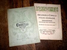folies d'Espagne partition pour violon et piano 1920 Arcangelo Corelli