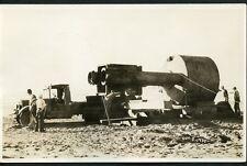 OCEAN PARK OREGON TRUCK HAULING EQUIPMENT DEC. 2, 1934 RPPC Photo Postcard